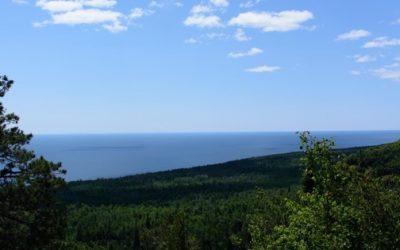 blue ocean blue sky landscape
