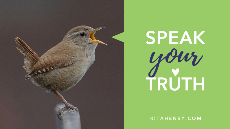 speak your truth with a bird