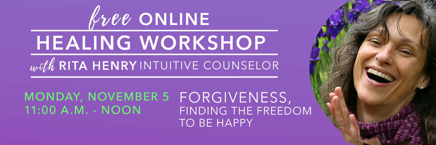 Free Online Workshop Nov 5, 2020 Forgiveness