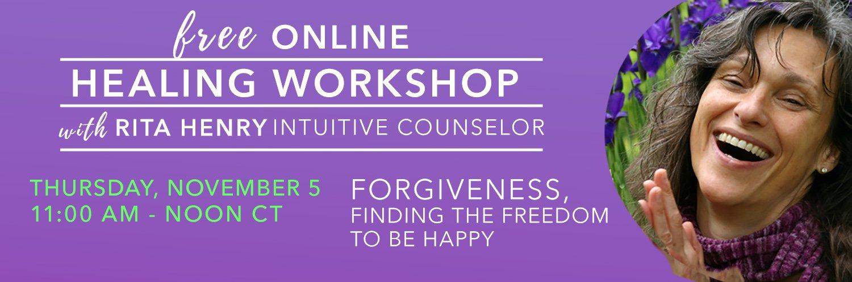 Free Healing Workshop Forgiveness